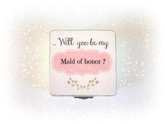 Maid of honor gift box, Will you be my Maid of honor, Pink Favor box, Customize gift box, Choose your Color