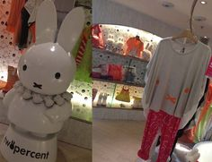 Hong Kong Miffy bunny boutique! See the cute fashion photos: http://www.lacarmina.com/blog/2013/08/hong-kong-designer-clothes-shops-miffy-store-izzue/  Nijntje statue, tshirts, clothing