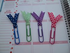 Ribbon Paper Clips for your Erin Condren Plum by ThePlannerFanatic