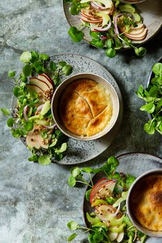 Classic Chicken Pot Pie   Watercress and Apple Salad with Chopped Walnuts