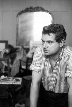 Francis Bacon photographed by Henri Cartier-Bresson, London, 1952.