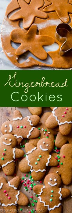 - Here is my favorite gingerbread men recipe! Soft in the centers, crisp on the ed… Here is my favorite gingerbread men recipe! Soft in the centers, crisp on the edges, perfectly spiced, molasses and brown sugar-sweetened holiday goodness. Gingerbread Man Cookies, Holiday Cookies, Holiday Desserts, Holiday Baking, Holiday Treats, Holiday Recipes, Gingerbread Recipes, Gingerbread Men Recipe Without Molasses, Christmas Ginger Cookies