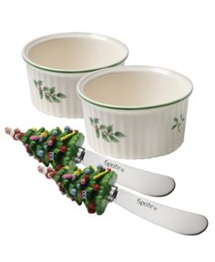 Spode Serveware, Set of 2 Christmas Tree Dip Dishes with Spreaders. Spode Serveware, Set of 2 Christmas Tree Dip Dishes with Spreaders Home - Dining & Entertaining Tableware - Serveware. Price: $24.99
