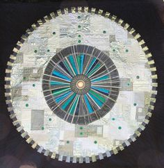 Large Hadron Collider quilt. So awesome... don't fart underneath this thing, you might travel through time.