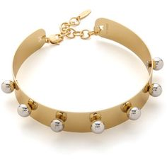 Joomi Lim Small Necklace Cuff With Spheres - Gold/Rhodium