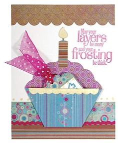 Such a cute card idea....paper piecing could be used in Scrapbooking as well!