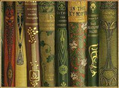 Art nouveau book spines.