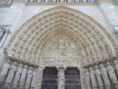The main portal on Notre Dame de Paris