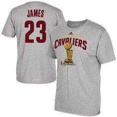 d4a8af1da LeBron James Cleveland Cavaliers adidas 2016 NBA Finals Champions Name    Number T-Shirt -