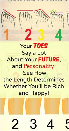 Your Toes Say a Lot About Your Future, and Personality: See How the Length Determines Whether You'll be Rich and Happy!