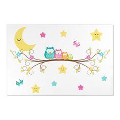 Owl Nursery Decor, Woodland Animal Nursery, Star Nursery, Elephant Nursery, Nursery Rugs, Nursery Wall Decals, Baby Girl Wallpaper, Animal Rug, Owl Family