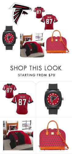 """alanta falcons"" by chaniyahrobertson70 on Polyvore featuring NIKE, Sparo and Dooney & Bourke"