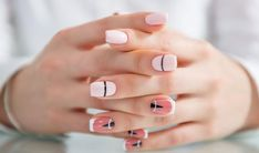 Nail Designs Geometric Bridesmaid - the geometric nail art you need to try for your next manicure Nail Art Designs, Elegant Nail Designs, Short Nail Designs, Elegant Nails, Design Ongles Courts, Cute Short Nails, Geometric Nail Art, Geometric Shapes, Celebrity Nails