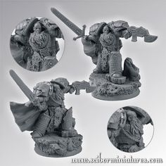 http://bloodofkittens.com/wargaminghub/2014/06/17/project-space-wolves-bran-redmaw-company-army/