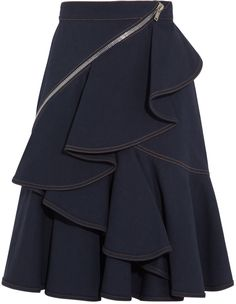 Givenchy Indigo skirt with zip details on shopstyle.com.au