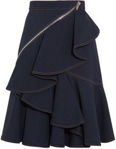 Givenchy Indigo skirt with zip details on shopstyle.com.au