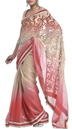 Unique and elegant Satya Paul Saree in pink colours with rich embroidery and beautiful border detailing.    Satya Paul´s contemporary Indian styles of Sarees is unsurpassed within the Indian Fashion world. His Saree lines range from Silk Sarees to Net sarees with rich embroidery. Satya Paul as a designer is one of the most popular Indian designers in Bollywood. Strand of Silk (strandofsilk.com) offers a beautiful collection of Satya Paul Sarees with beautiful coloured prints.