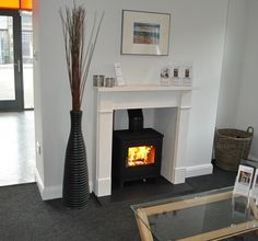 The Chesney Shoreditch 5 wood burning stove in our showroom set in the Scottish Borders.