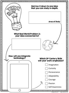 Independent Study Planning Pages - Passion Projects, Genius Hour $