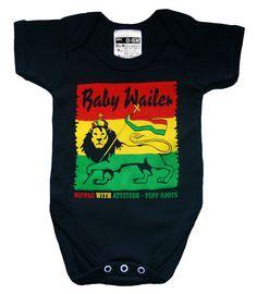 Baby Wailer Reggae Babygrow onesie a Rasta by NippazWithAttitude, £16.99