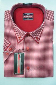 Koszula Męska Modely DH6A-B-CT  Kr. Rękaw (S-2XL)