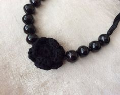 Chunky Beaded Necklace by VictoriousJewels on Etsy