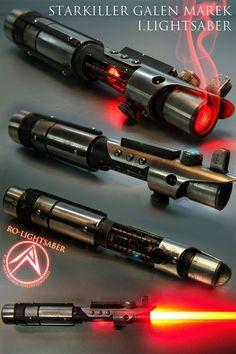 Weapon of choice. Lightsaber Design, Custom Lightsaber, Lightsaber Hilt, Inquisitor Lightsaber, Lightsaber Tattoo, Lightsaber Colors, Star Wars Concept Art, Star Wars Fan Art, Star Wars