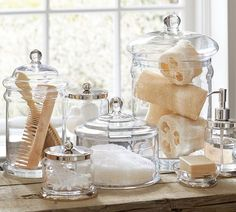 Bathroom organization - via Pottery Barn