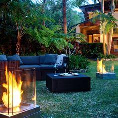 How to Design a Backyard Essential Zones} modern garden design outdoor fireplaces Outdoor Rooms, Outdoor Gardens, Indoor Outdoor, Outdoor Living, Outdoor Furniture Sets, Outdoor Decor, Casa Patio, Balkon Design, Outside Living