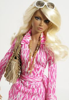 barbie :P  (Not Babs, prob Fashion Royalty by Integrity..These dolls are amazing without touching a thing! :)