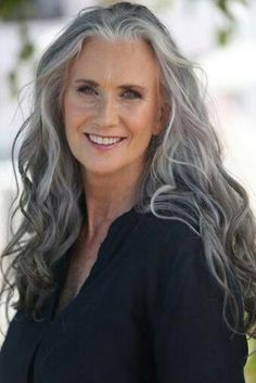 Long Grey Hairstyles Captivating Mature …  Long Hai…