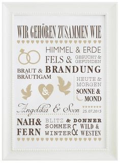 We belong together - for the wedding - Sufle-Lieblingsstueck - hochzeit Invitation Cards, Invitations, Partying Hard, Diy Wedding Decorations, Just Smile, Brush Lettering, Princess Wedding, Just Married, Diy Paper
