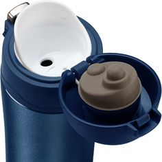 LifeSky coffee thermos model 1129 Blue - Top view