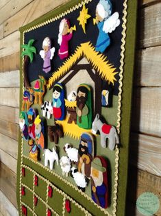 Celebrate the true meaning of Christmas by counting down with a Nativity Scene advent calendar! Nativity Advent Calendar, Fabric Advent Calendar, Advent Calendars For Kids, Advent Calenders, Christmas Calendar, Kids Calendar, Christmas Countdown, Nativity Crafts, Christmas Nativity