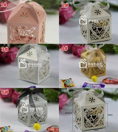 Wholesale Hollow Wedding Candy Box - Buy Wedding Supplies Favor Holders Continental Hollow Pierced Heart Tray Lace Wedding Candy Box Laser Creative Favor Holders $0.31 | DHgate.com