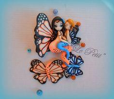 Mermaid butterfly in fimo