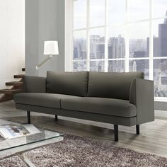 Our Lucia Loveseat can be made into a smaller apartment size 3 seat sofa.  Fully customizable, choose between fabrics, colors, legs styles, and cushion comfort.  Made in Canada.  Only at Kavuus.com Loveseats, Sofa, Couch, Small Apartments, Fabrics, Cushions, Canada, Legs, Colors