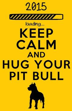 Hug your pitbull