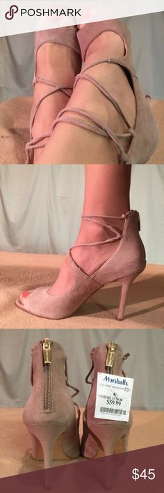 New Vince Camuto Beige Suede Heels These shoes are Brand New/Never Worn and are in PERFECT CONDITION. The heel height of this shoe shoe is 4 inches tall. Vince Camuto Shoes Heels