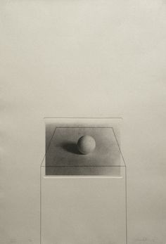 Liliana Porter, Untitled with Sphere (1974), Plate size: 28 ½ x 24, Photo etching and pencil
