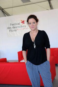 """Muriel Baumeister, Darstellerin im Film """"George"""", kam ebenfalls nach Ludwigshafen. Foto: Ben Pakalski."""