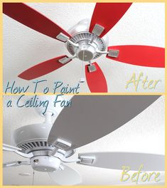 Makeover Your Old Ceiling Fan for Less Than $15 With Our DIY Guide http://www.delmarfans.com/educate/diy/paint-your-ceiling-fan/