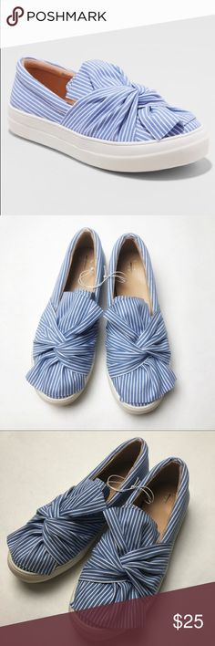 22d332ab7685ac A New Day Mellie Slip On Sneakers With Bow Detail -size -light blue and  white -bow detail -slip on shoes -Brand name on inner sole is marked a new  day Shoes ...