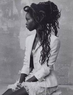 #Dreads / #Locs / #Hair / #Photography Liya Kebede, Dreadlock Styles, Dreadlock Hair, We Are The World, Afro Hairstyles, Beautiful Black Women, Hello Beautiful, Beautiful People, Dark Skin