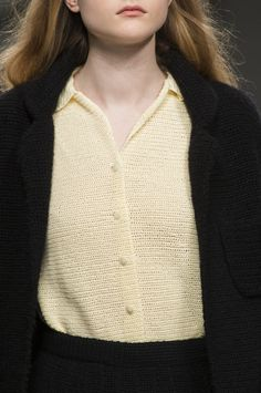 Yellow white button top | Black | Contrast | Central Saint Martins Fall 2017