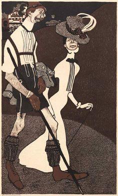 Bruno Paul, Paul trat mit ersten humorvollen Zeichnungen für die literarisch-künstlerische Wochenschrift Jugend 1896 an die Öffentlichkeit. Zwischen 1897 und 1906 zeichnete er für den Simplicissimus 492 großteils politische Karikaturen, die im Lauf der Jahre immer bissiger wurden. Circa 1900