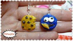 Aros Comegalletas /  Cookie Monster earrings :)