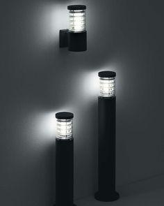 """""""Sigaretta"""" #floor #lamp #outdoor #essential #minimal #design #black #modern #Besanza https://www.lampadaribesanza.com/en/floor-lamp-sigaretta.html"""