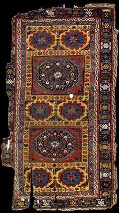 "Bergama – Uşak rug with ""Holbein"" type medallions. 16th century. Turk ve Islam Eserleri Muzesi, Istanbul (468)"