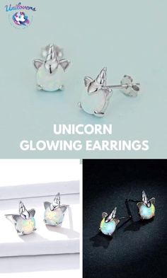 Synthetic opal tends to shift colors depending on the light and the angle you view, it has a touch of white and turquoise colors with a glint of pink. Every single earring is different from others.